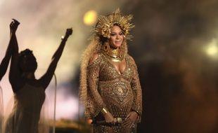 Beyoncé aux Grammy Awards, le 12 février 2017.