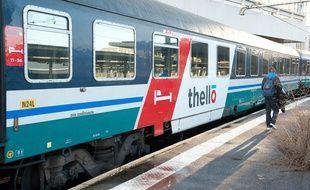 Illustration d'un train Thello.
