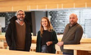 François Bidou (à gauche), Marie-Audrey Turellier, et Alexandre Viaud Foulon, les trois responsables du food court La Boca à Bordeaux.
