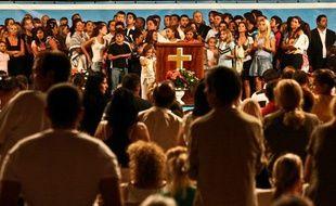 Messe évangelique à Chaumont, en Haute-Marne, en août 2010.