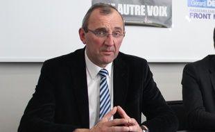 Gilles Pennelle, candidat Front national aux régionales en Bretagne.