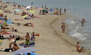 La plage de Leucate (Aude), où le maire a pris le 16 août 2016 un arrêté