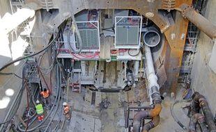 Mardi, le tunnelier avait déjà parcouru 36,8m sous terre