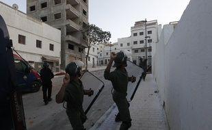 Des heurts entre forces de l'ordre et manifestants ont éclaté au Maroc, à Al-Hoceïma le 20 juillet 2017.
