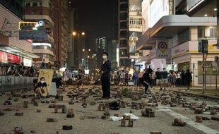 Des manifestants à Hong Kong, le 13 novembre 2019.