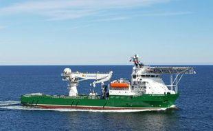 Havila Harmony, un des trois navires scrutant les fonds marins à la recherche de l'épave du MH370 au large de l'Australie