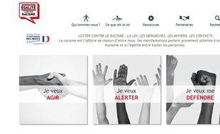 Capture d'écran du site Egalitecontreracisme.fr