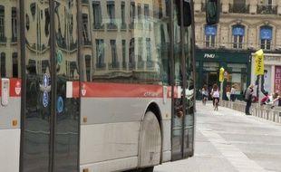 A Lyon, le 8 juillet 2014. Illustration d'une ligne de bus. E.Frisullo/ 20 Minutes.