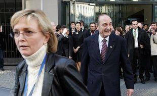 Jacques Chirac et sa fille Claude, le 25 mars 2007 à Berlin.