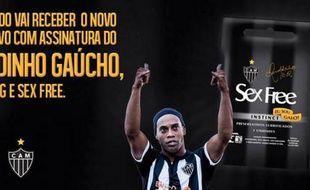 Capture d'écran de la publicité de Ronaldinho pour des préservatifs