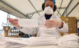 Dans une usine fabriquant des masques. (archives)