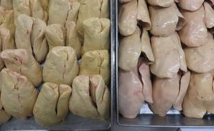 Strasbourg, le 5 novembre 2015. - La maison Georges Bruck est le dernier fabricant de foie gras en centre-ville de Strasbourg. Sa spécialité le foie gras d'oie qu'elle prépare artisanalement.
