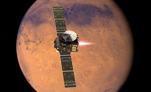 L'orbiteur TGO de l'Agence spatiale européenne (ESA).