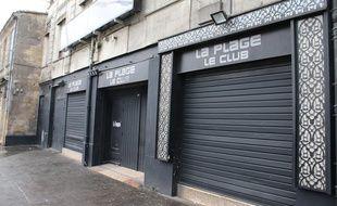 Le 2 février 2017, la boîte de nuit La Plage, à Bordeaux