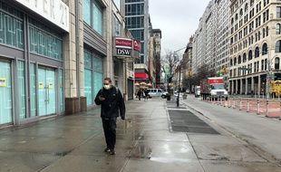 A Union Square, à New York, en mars 2020.