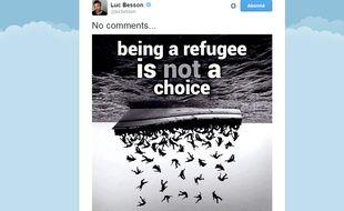 Tweet de Luc Besson, le 6 décembre 2015.