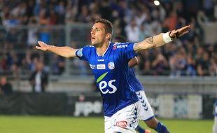 Face à Epinal (2-1), Jérémy Blayac a inscrit son septième but de la saison en transformant un penalty. (Archives)