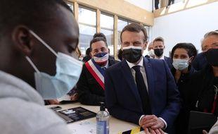Emmanuel Macron, le 1er mars 2021.