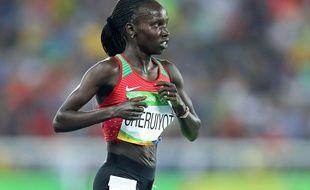 La Kényane  Vivian Jepkemoi Cheruiyot, médaille d'or sur 5.000 mètres aux JO de Rio (photo d'illustration).