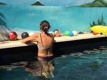 La piscine de Philippe enregistre encore des réservations malgré la rentrée.