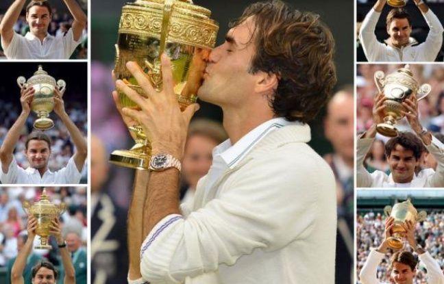 """Le Suisse Roger Federer a déclaré qu'on ne """"s'habituait jamais"""" à gagner des tournois du Grand Chelem, après sa septième victoire à Wimbledon dimanche, son dix-septième trophée majeur au total."""