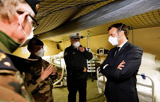 Coronavirus: «Ici, nous avons fait bloc pour soigner, pour sauver», lance Emmanuel Macron à Mulhouse