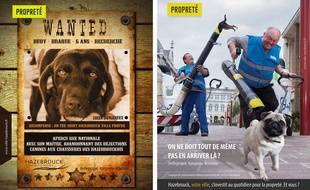 La campagne de communication de la ville d'Hazebrouck contre les crottes de chiens.