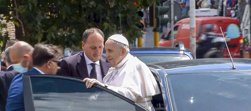 Le pape François le 14 juillet lors de son retour au Vatican.
