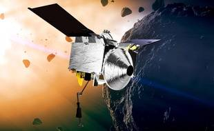 La sonde OSIRIS-REx va tenter de prélever un échantillon de l'astéroïde Bennu (illustration).