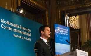 Le Premier ministre Manuel Valls à Marseille, le 29 mai 2015