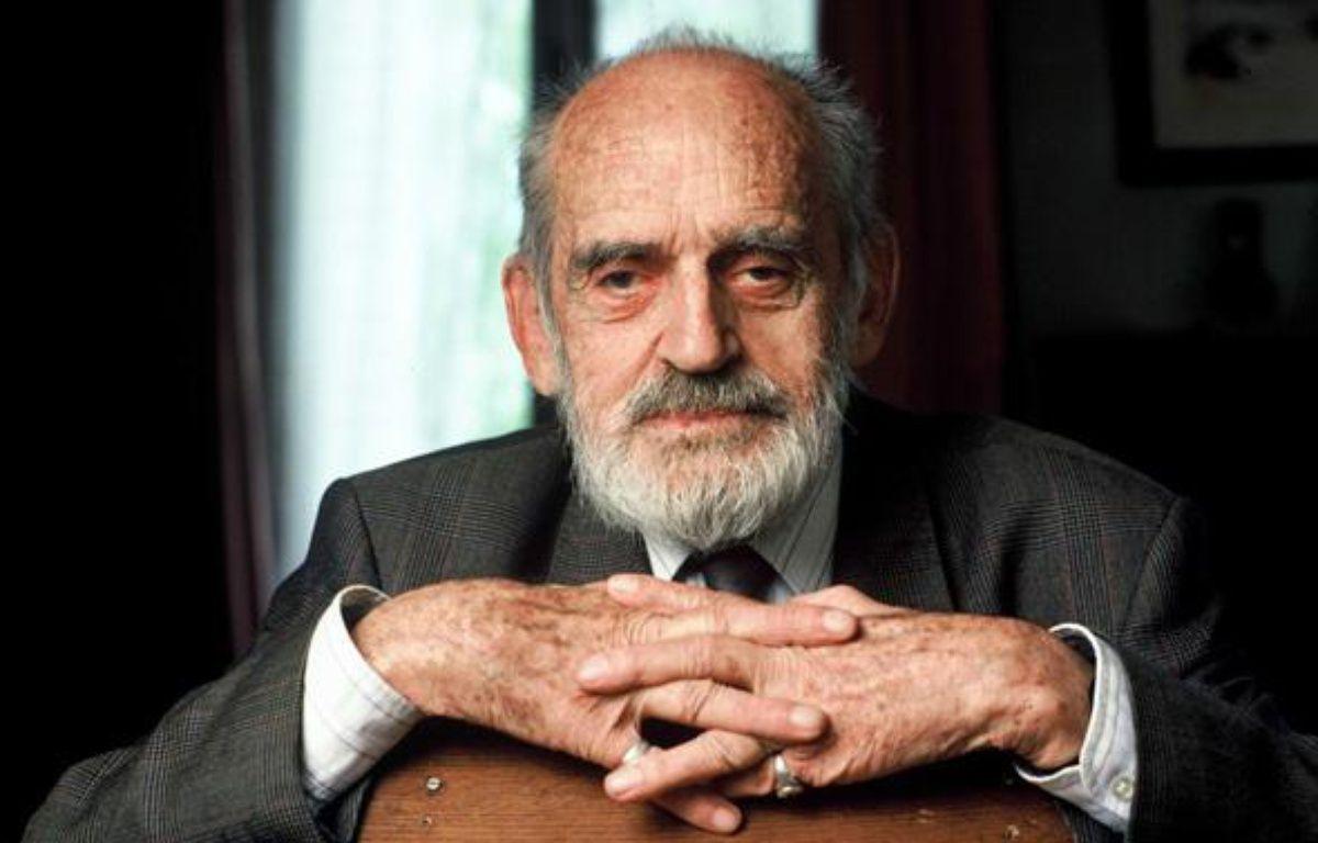 Le scientifique Théodore Monod, en 1994. – ANDERSEN/SIPA