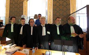 Les avocats de la défense de Daniel Legrand  jeudi devant la cour d'assises des mineurs d'Ille-et-Vilaine.