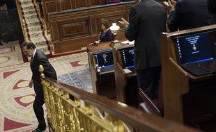 Mariano Rajoy a quitté ce jeudi le parlement espagnol pendant les débats sur la mention de censure déposée par ses adversaires socialistes à son encontre.