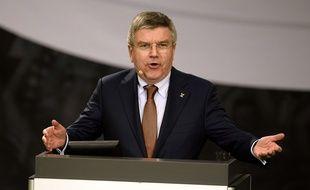 Le président du CIO Thomas bach, le 5 mars 2015.
