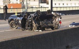 Deux policiers de la BAC de Paris sont morts dans une course poursuite  sur le péripherique interieur de Paris, le 21 février 2013.