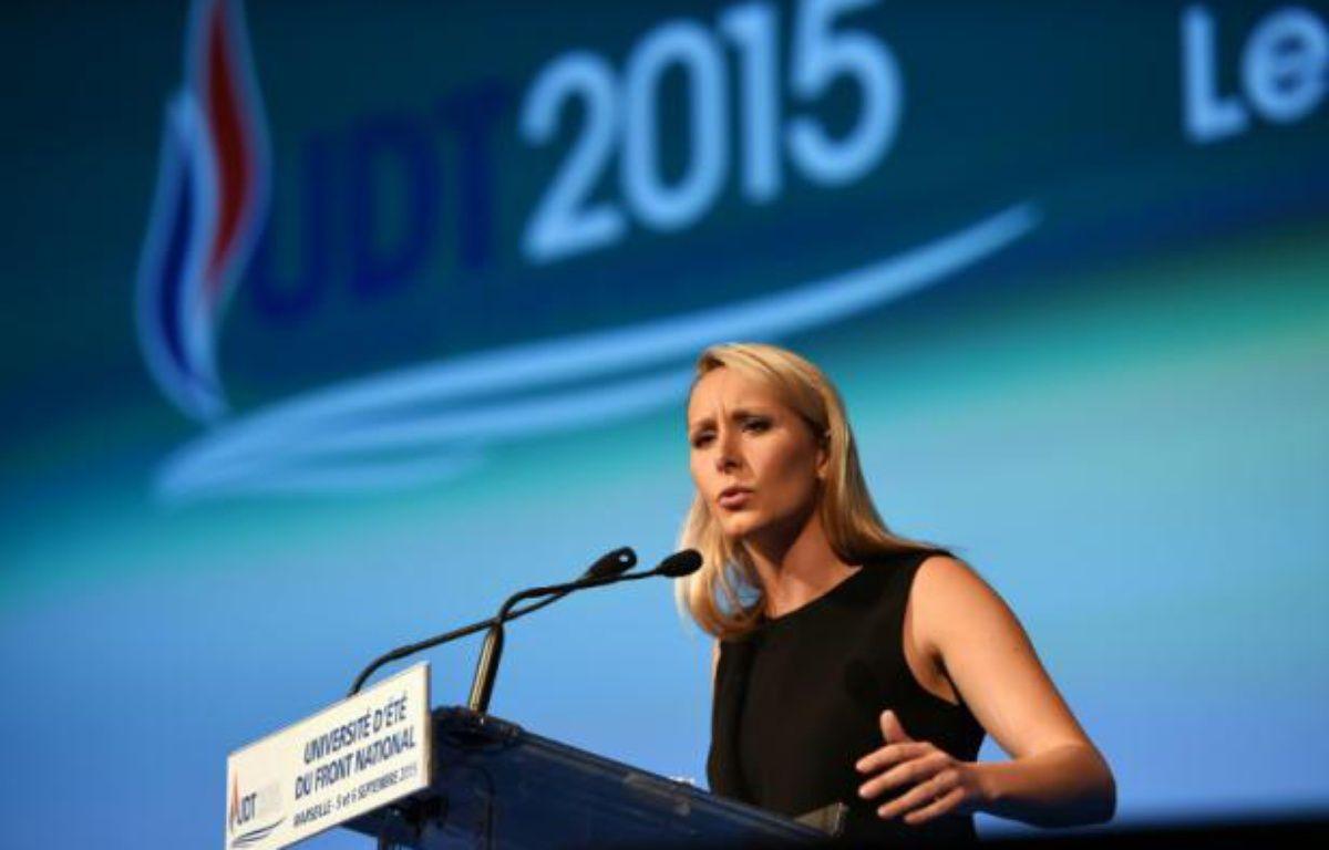 Marion Maréchal-Le Pen lors d'un meeting le 5 septembre 2015 à Marseille – ANNE-CHRISTINE POUJOULAT AFP