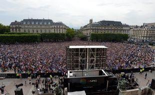 La fan-zone devant l'hôtel de ville lors du dernier mondial.