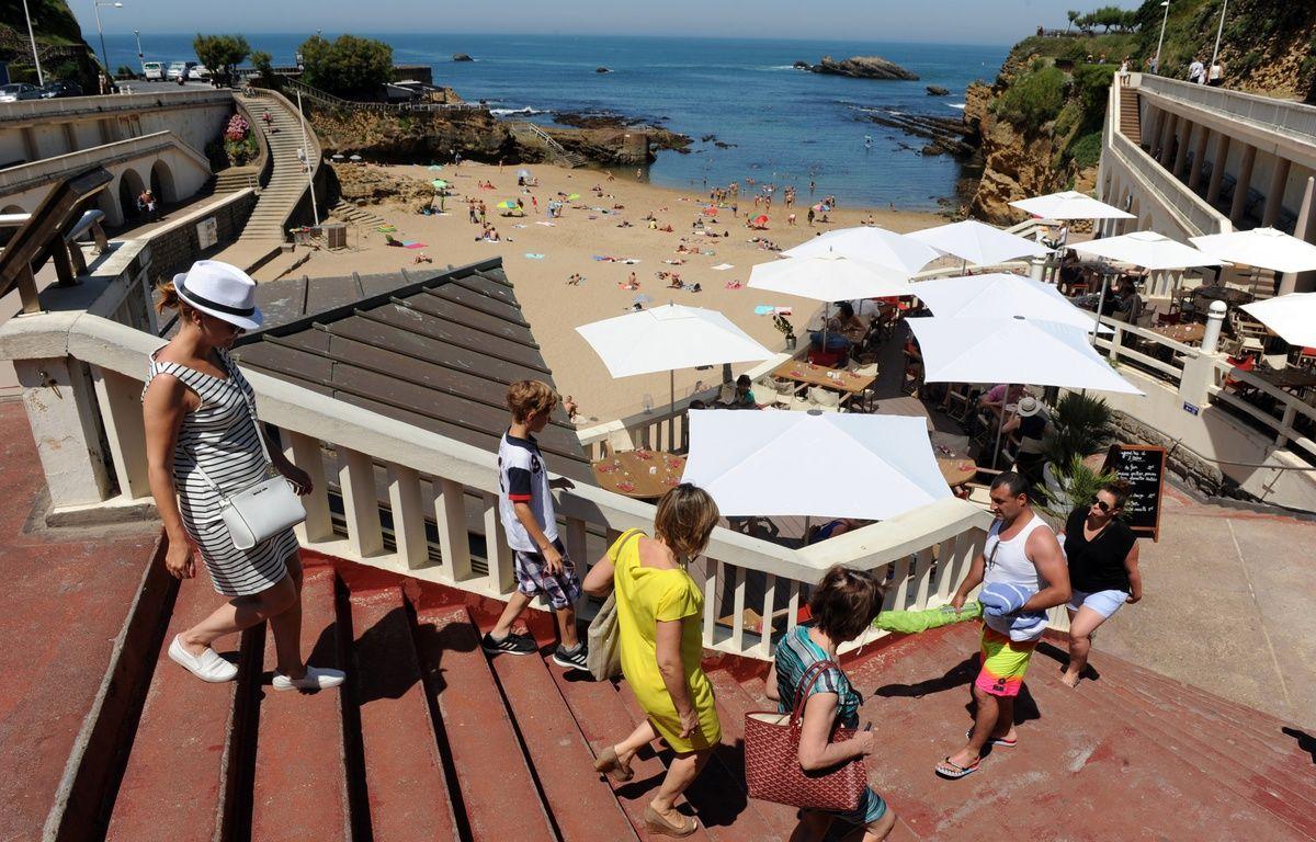 La plage du Port Vieux à Biarritza été labellisée sans tabac il y a environ deux ans.  – IROZ GAIZKA / AFP