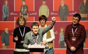 Hasier Arraiz, président du parti indépedantiste basque Sortu, à Pampelune, le 20 février 2013