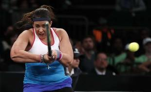 Marion Bartoli a joué face à Serena Williams en match exhibition, le 6 mars 2018.