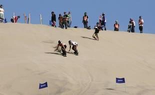 Vitor Semedo est allé à Huacachina, au Pérou, d'où il a ramené sa médaille de bronze de sandboard.