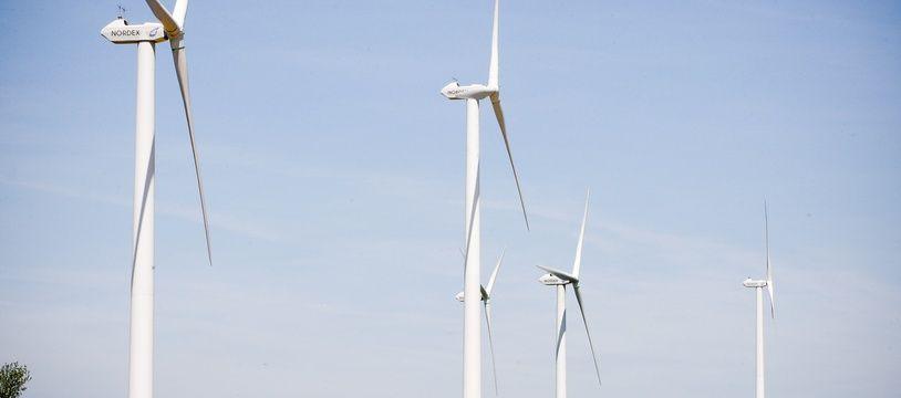 Un parc d'éoliennes en France (image d'illustration).