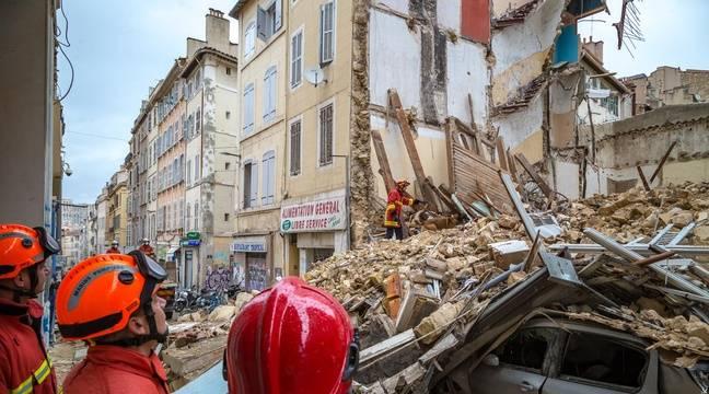 video immeubles effondr s marseille que sait on au lendemain du drame de la rue d 39 aubagne. Black Bedroom Furniture Sets. Home Design Ideas