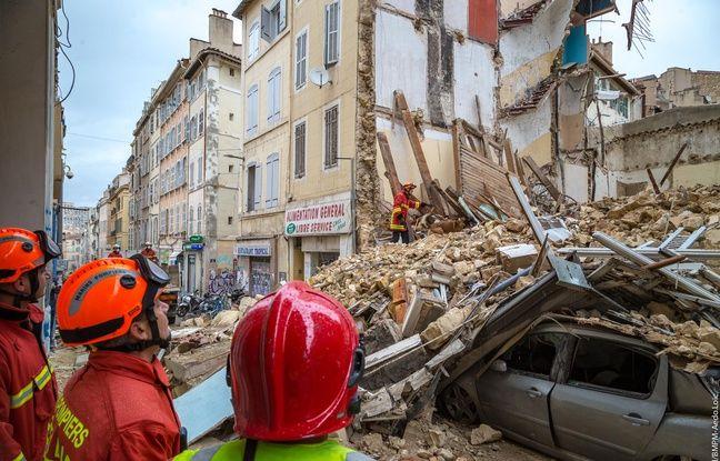 Immeubles effondrés à Marseille: «Aucune autre victime» sous les décombres, assurent les marins-pompiers