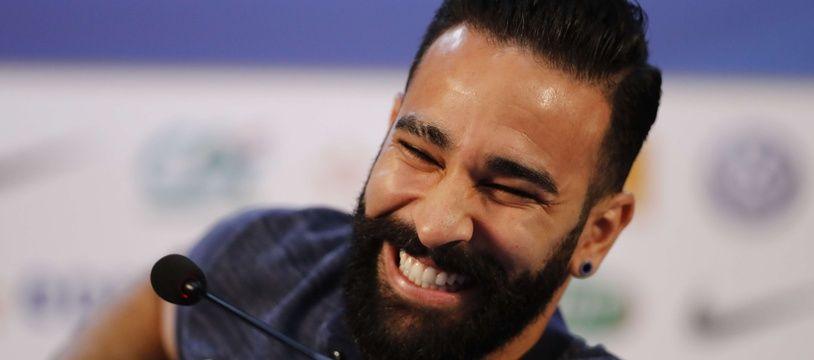 Adil Rami en conférence de presse à Istra, le 4 juillet 2018.