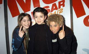 Joséphine Berry, Jules Sitruk et Mabô Kouyaté à l'avant première de  «Moi Cesar, 10 ans 1/2», en 2003.