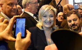 La présidente du FN Marine Le Pen à Paris, le 1er mars 2016