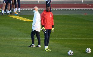 Didier Deschamps et Steve Mandanda
