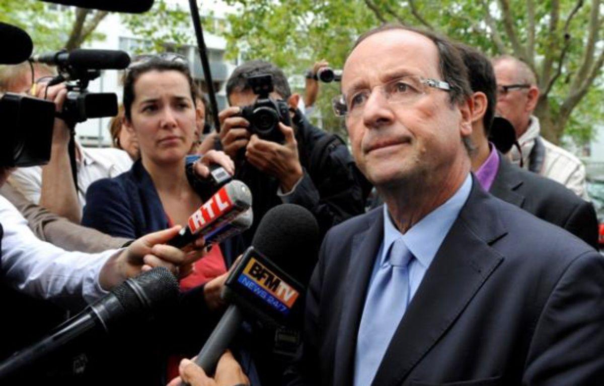 François Hollande le 20 juillet 2011 à Paris. – M. MEDINA / AFP