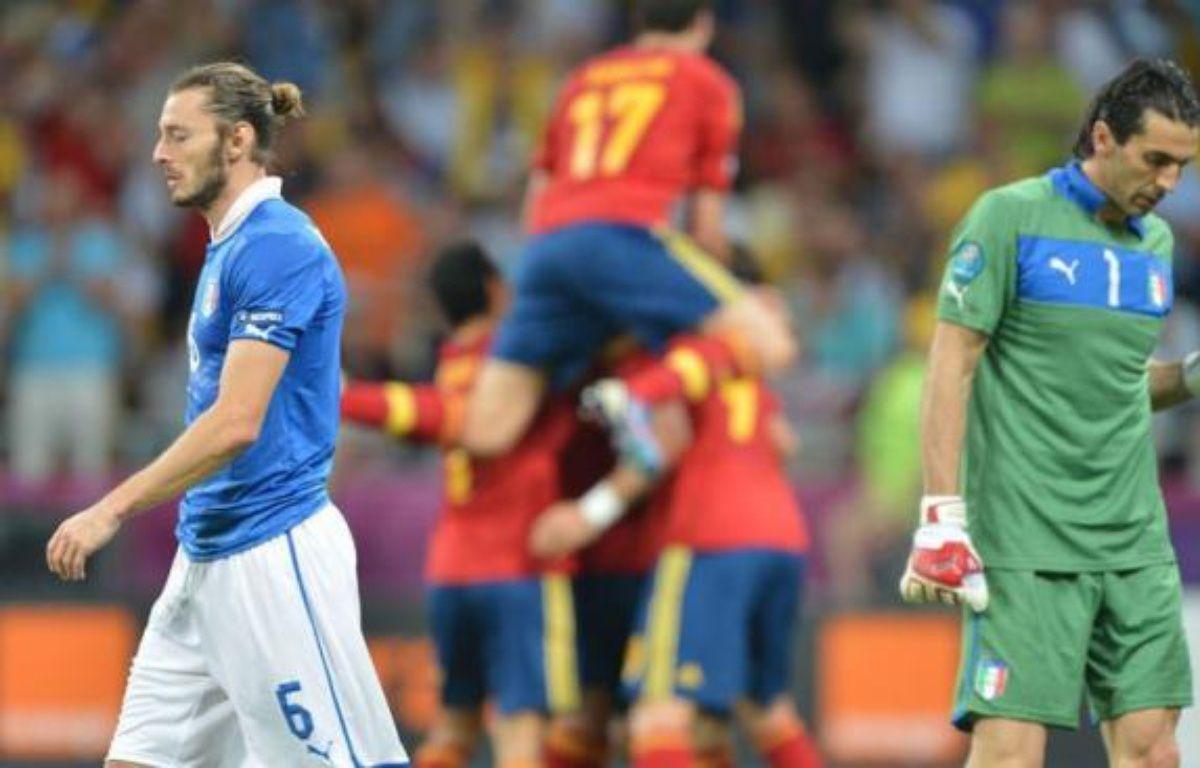Terrassée par l'Espagne (4-0) en finale de l'Euro-2012, l'Italie est néanmoins revenue parmi les meilleures équipes de la planète, effaçant le fiasco du Mondial-2010, et attaque la campagne du Mondial au Brésil forte de ses nouvelles certitudes malgré une défaite cruelle. – Gabriel Bouys afp.com